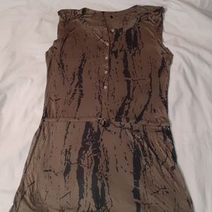 Calida Belted Tie Dye Camo-Look Romper Dress XS
